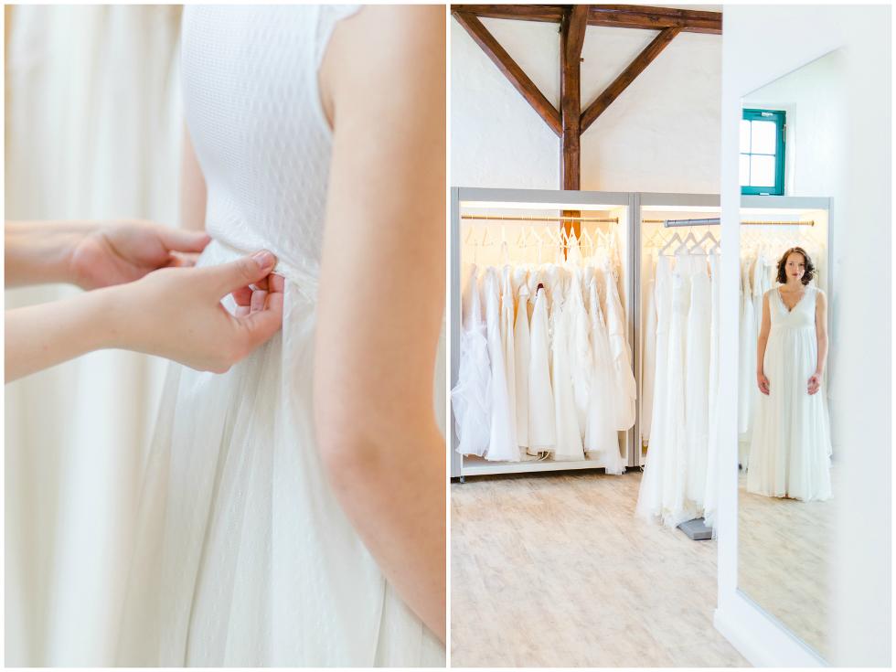 Brautkleid Anprobe Hochzeitshof Glaisin
