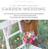 5 Top Tips Relaxed Garden Wedding